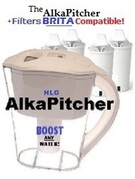 The AlkaPitcher Alkaline Water Ionizer Pitcher!  UPGRADE from BRITA!  Filters Compatible!